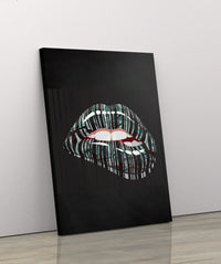MONEY LIPS: CanvasMafia Inspirational Canvas Wall Art for Office and Home Decor