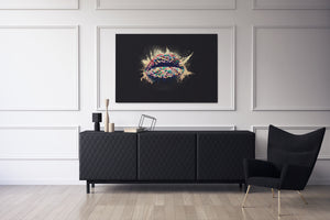 Candy Lips - Inspirational Wall Art, Office Wall Art, Office Decor, Office Wall, Office Wall Decor