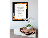 Confucius | Previous Preparation (Autumn, Black) - FRAMED Inspirational Wall Art, Framed Inspirational Print Art, Dorm Decor, Wall Art