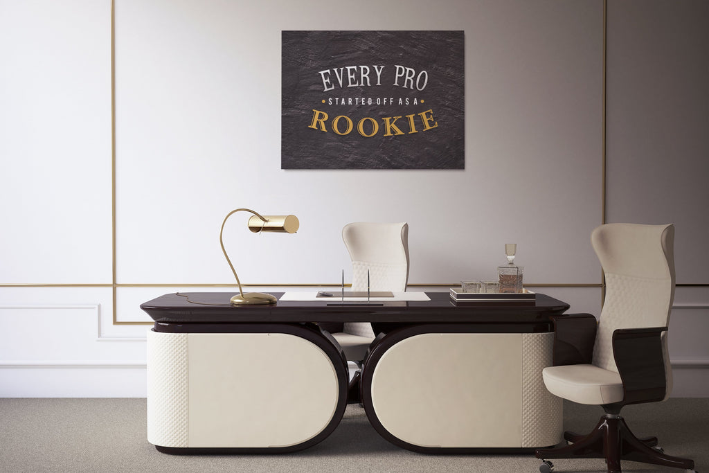 EVERY PRO STARTED AS A ROOKIE: CanvasMafia Inspirational Canvas Wall Art for Office and Home Decor