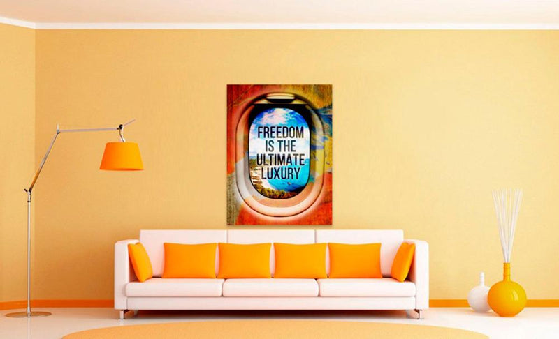 Motivational Canvas Art - FREEDOM IS THE ULTIMATE LUXURY