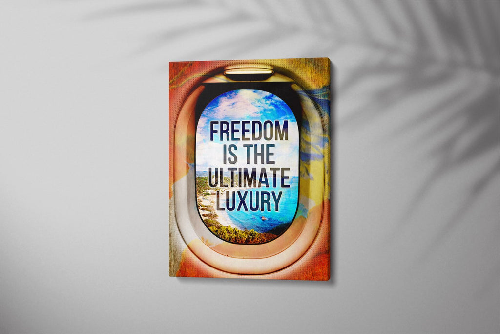 FREEDOM IS THE ULTIMATE LUXURY: CanvasMafia Inspirational Canvas Wall Art for Office and Home Decor