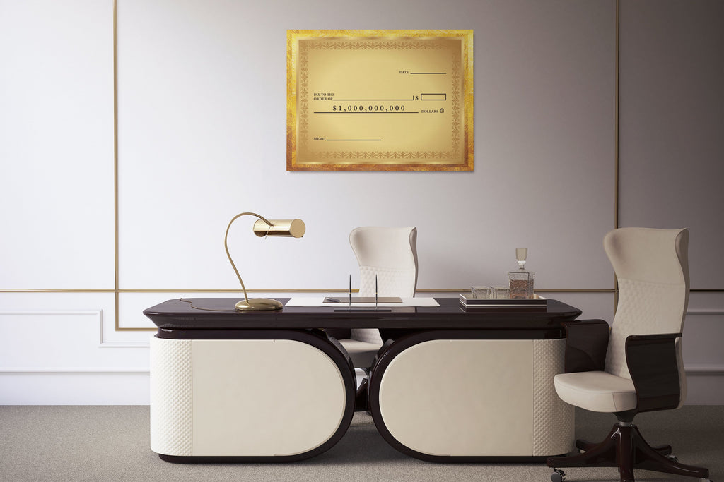 GOLDEN CHECK: CanvasMafia Inspirational Canvas Wall Art for Office and Home Decor
