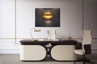 GOLDEN LIPS: CanvasMafia Inspirational Canvas Wall Art for Office and Home Decor