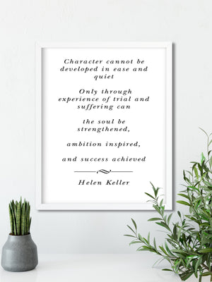 Helen Keller Quote | FRAMED Inspirational Wall Art, Framed Inspirational Print Art, Dorm Decor, Office Wall Art