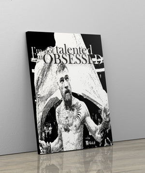 I'M NOT TALENTED, I'M OBSESSED: CanvasMafia Inspirational Canvas Wall Art for Office and Home Decor