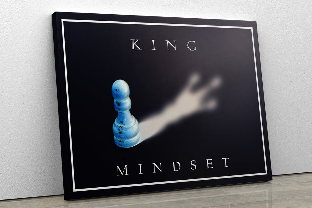King Mindset - Inspirational Wall Art, Office Wall Art, Office Decor, Office Wall, Office Wall Decor