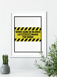 Let Success be the Noise - FRAMED Inspirational Wall Art, Framed Inspirational Print Art, Dorm Decor, Office Wall Art, Office Decor