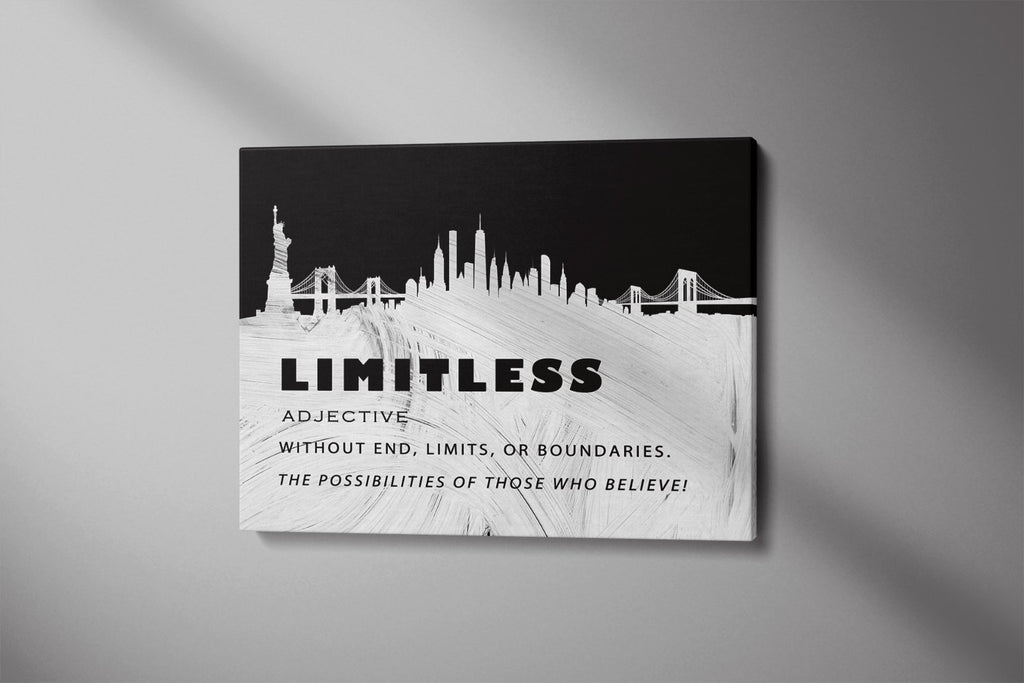 LIMITLESS: CanvasMafia Inspirational Canvas Wall Art for Office and Home Decor
