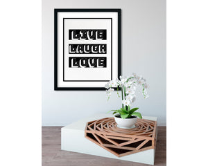 Live, Laugh, Love - FRAMED Inspirational Wall Art, Framed Inspirational Print Art, Dorm Decor, Office Wall Art, Office Decor