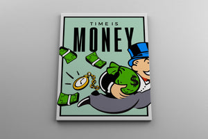 TIME IS MONEY: CanvasMafia Inspirational Canvas Wall Art for Office and Home Decor