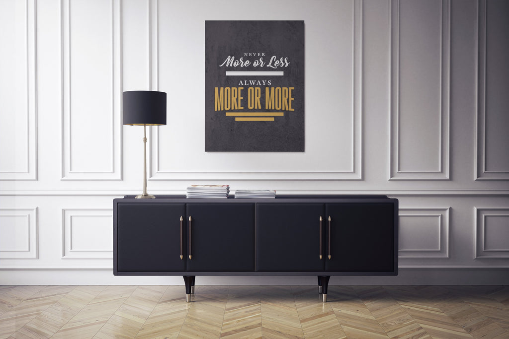 NEVER MORE OR LESS: CanvasMafia Inspirational Canvas Wall Art for Office and Home Decor