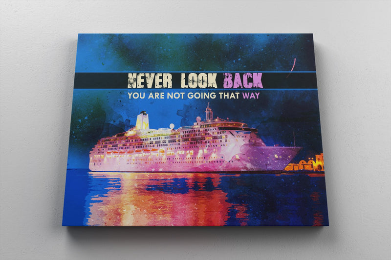 NEVER LOOK BACK: CanvasMafia Inspirational Canvas Wall Art for Office and Home Decor