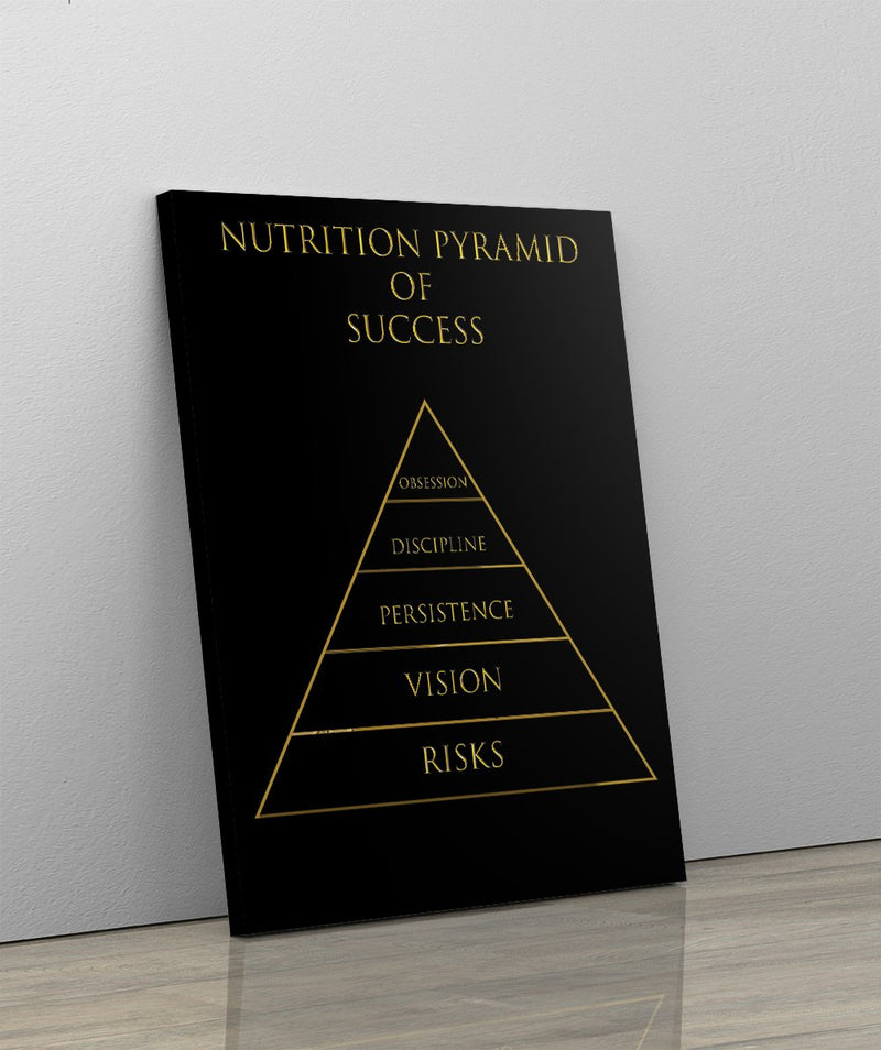 PYRAMID OF SUCCESS: CanvasMafia Inspirational Canvas Wall Art for Office and Home Decor