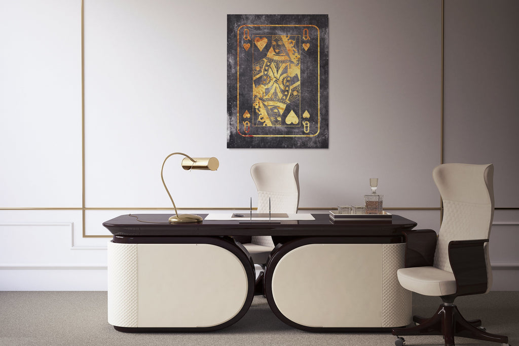 GOLD QUEEN: CanvasMafia Inspirational Canvas Wall Art for Office and Home Decor