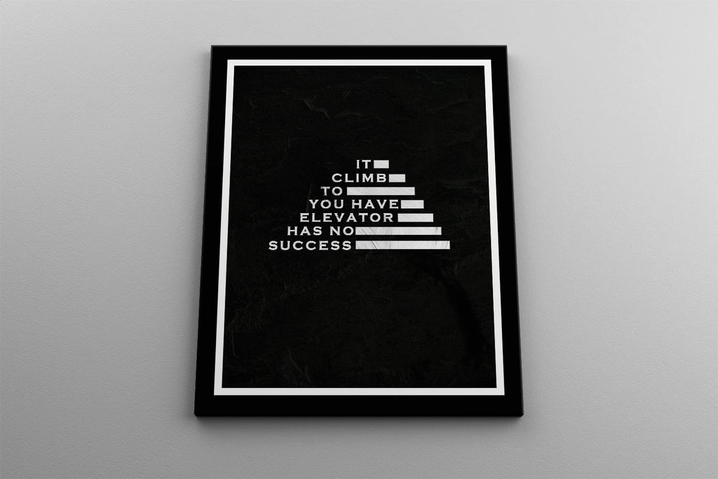 SUCCESS - YOU HAVE TO CLIMB IT: CanvasMafia Inspirational Canvas Wall Art for Office and Home Decor