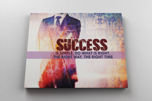 SUCCESS IS SIMPLE: CanvasMafia Inspirational Canvas Wall Art for Office and Home Decor