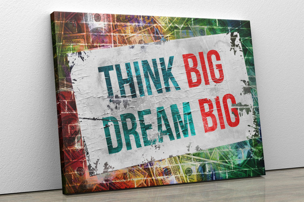 Think Big, Dream Big: CanvasMafia Inspirational Canvas Wall Art for Office and Home Decor