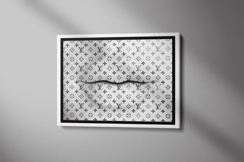 WHITE LIPS - Inspirational Wall Art, Office Wall Art, Office Decor, Office Wall, Office Wall Decor