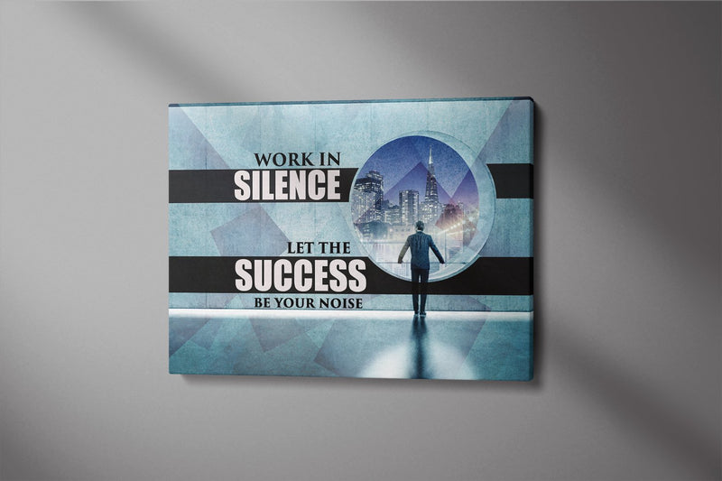 LET SUCCESS BE YOUR NOISE: CanvasMafia Inspirational Canvas Wall Art for Office and Home Decor