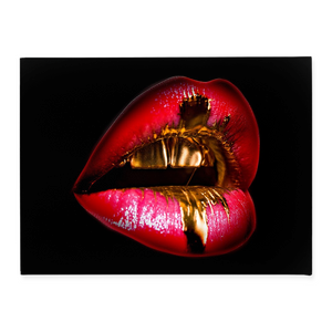 Red Golden Lips - Inspirational Wall Art, Office Wall Art, Office Decor, Office Wall, Office Wall Decor
