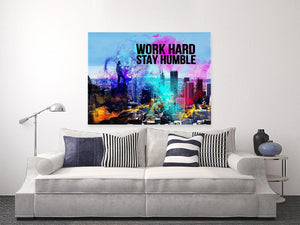 Work Hard, Stay Humble - Entrepreneur Canvas Art - Inspiration Motivation Success Quotes Canvas Wall Art