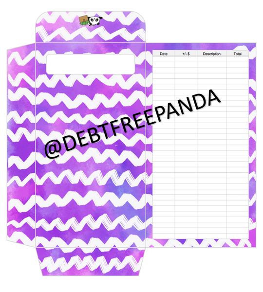 FREE Purple Cash Envelopes with Tracker! | DebtFreePanda Custom Designs