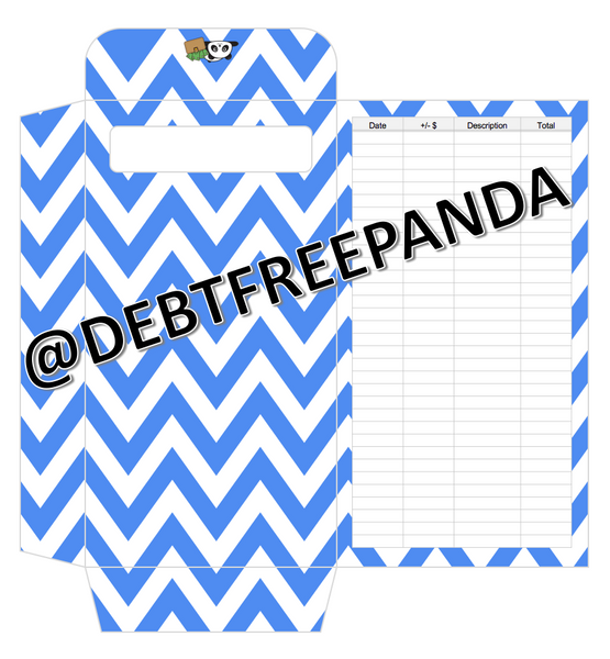 FREE Blue Cash Envelopes with Tracker! | DebtFreePanda Custom Designs