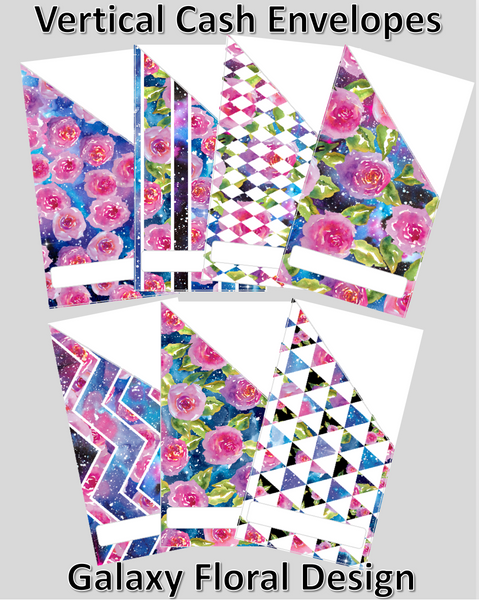 Printable | Galaxy Floral Cash Envelopes | with free blank template!
