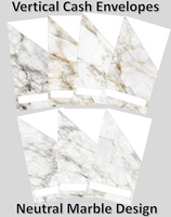 Printable | Neutral Marble Cash Envelopes | with free blank template!
