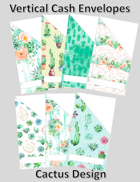 photograph regarding Cash Envelope Printable called Printable Cactus Money Envelopes with cost-free blank template!