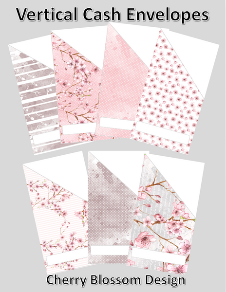 Printable | Cherry Blossom Cash Envelopes | with free blank template!