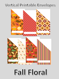 Printable | Fall Floral Vertical Cash Envelopes | with free blank template!