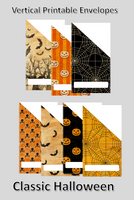Printable | Classic Halloween Vertical Cash Envelopes | with free blank template!