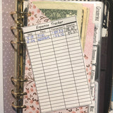 Expense Tracker for Cash Envelopes - Printable
