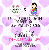 Cursive Font Cash Envelope stickers for Tabs and Regular Envelopes