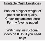 Printable | BLANK Cash Envelope Envelope