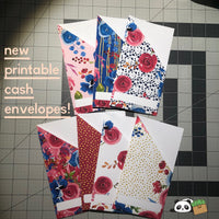 Printable | Burgundy & Floral Cash Envelopes | (LIMITED QUANTITY) with free blank template!