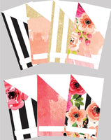 Printable | Floral Stripes Cash Envelopes | with free blank template!