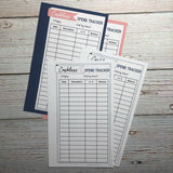 Printable Cashless Spend Trackers (Inserts)