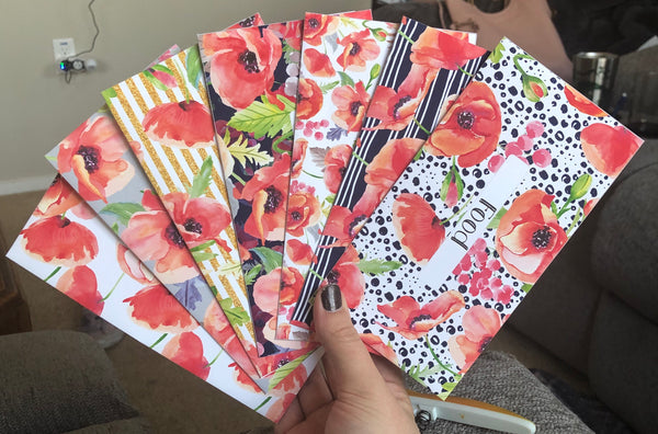Printable | Poppy Love Horizontal Cash Envelopes {LIMITED QUANTITY} | with free blank template!