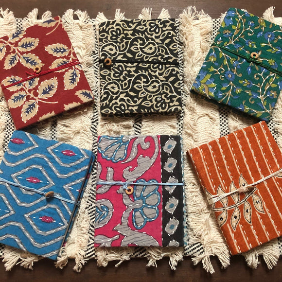Pocket Journals - Cotton Sari