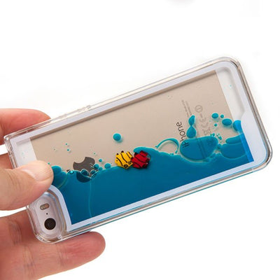 Swimming Fish in Blue Ocean iPhone Case