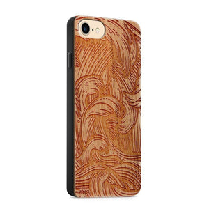 Ocean Storm Crashing Waves Wood Phone Case