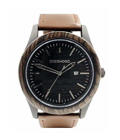 The Boardwalk - Walnut Watch (Brown Leather)