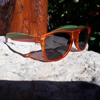 Sunset West - Colored Bamboo Sunglasses