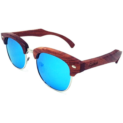 Sharky Blue Sandalwood Sunglasses