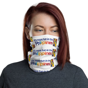 """ IT'S MORE FUN IN THE PHILIPPINES "" PRINT DESIGN FACE MASK Neck Gaiter"