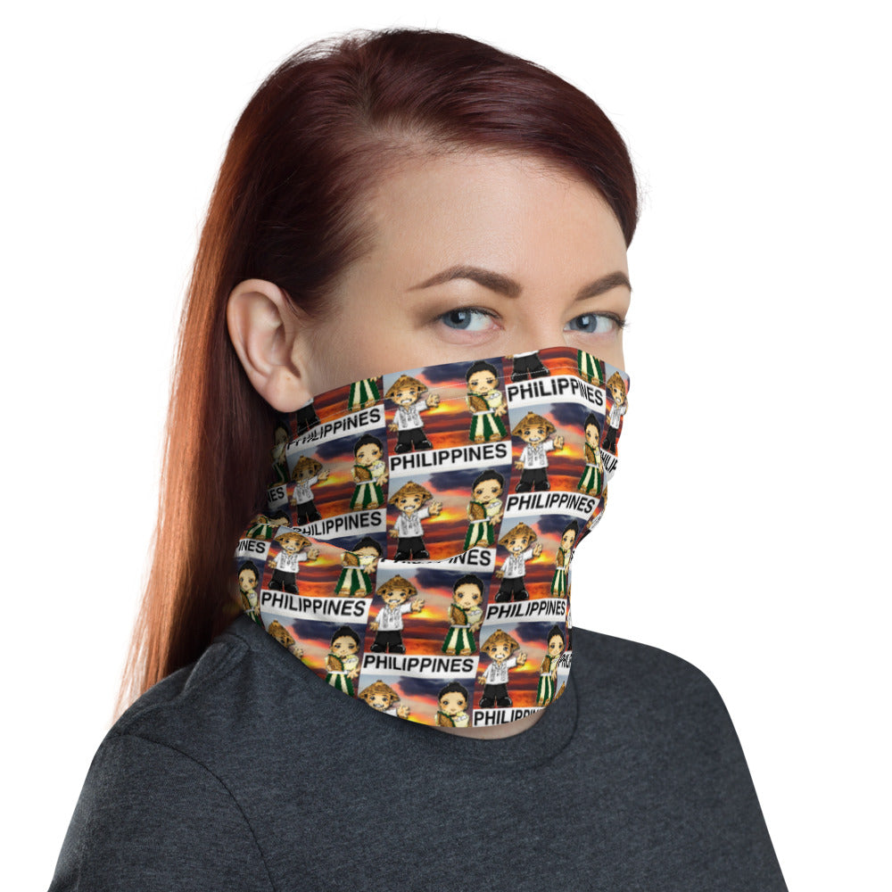 NATIONAL COSTUEM OF THE PHILIPPINES DESIGN FACE MASK Neck Gaiter
