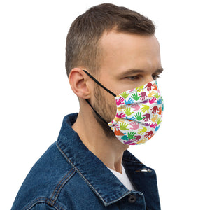 Colorful Hand Print Designs Premium face mask